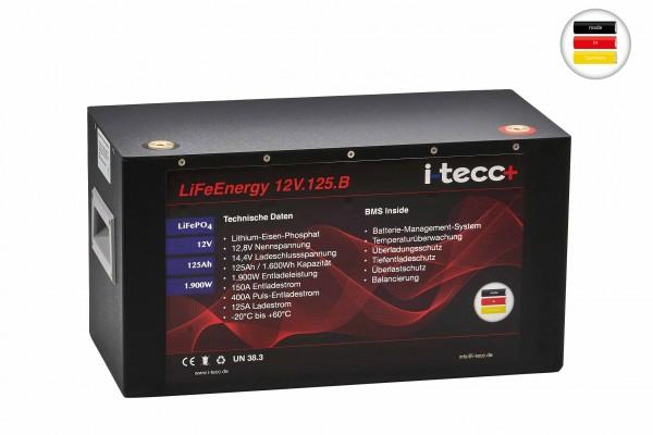 LiFePO4 Batterie 12V 125Ah