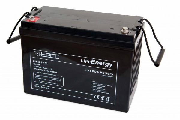 LiFePO4 Batterie 12V 125Ah - LiFeEnergy 12V.125
