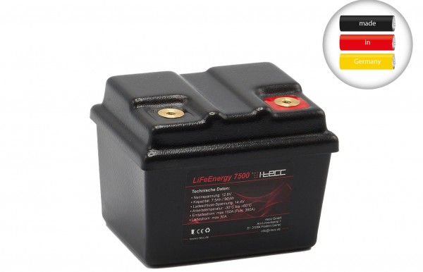 LIFePO4 Starterbatterie 7,5Ah A123-Zellen