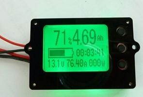 Batteriemonitor mit Display LIFE-MO-80-100 30-80V 100A