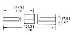 Anderson Power Pole P75 schwarz inkl. Kontakt
