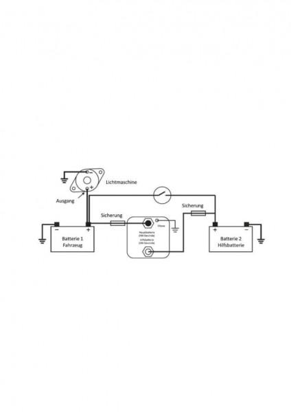 Batterietrennrelais 120A Spannungsgesteuert LiFePO4