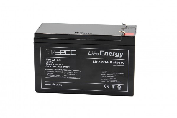 LiFeEnergy LiFePO4 Akku 12V 9Ah mit BMS