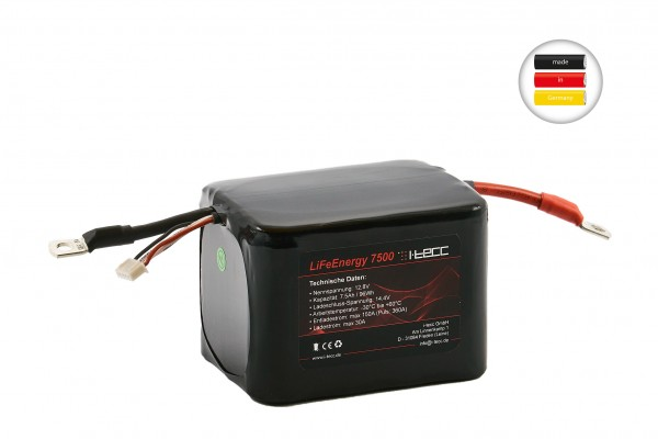LiFePO4 Starterbatterie 12V 7,5Ah