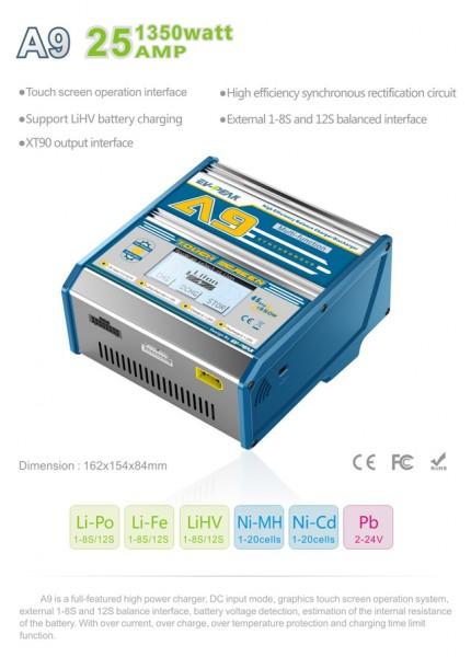 LiFePO4 Balancer Ladegerät A9 Touch Screen